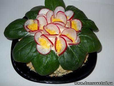 салат Букет с черносливом на День рождения сайта Дом советов