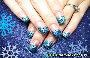 шеллак фото ногтей на новый год