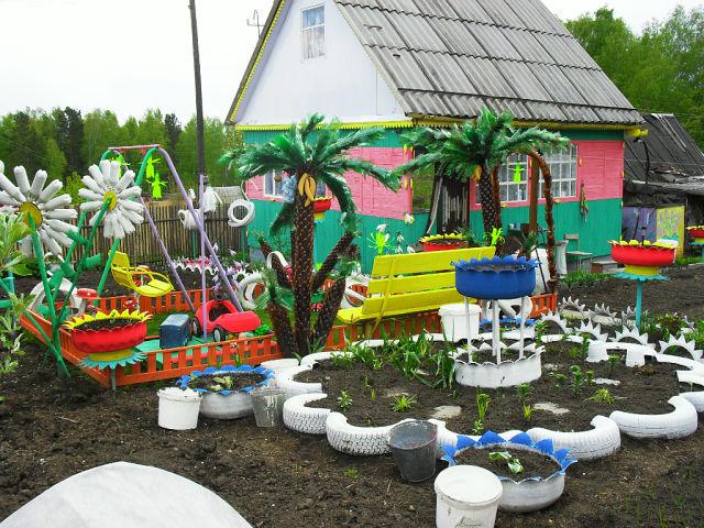 Поделки для сада дачи двора своими руками