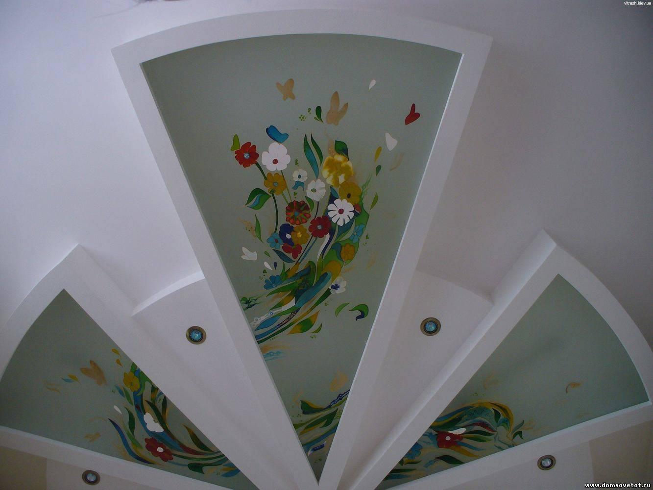 Декор потолка своими руками (38 фото обоями, тканью, и другие) 83