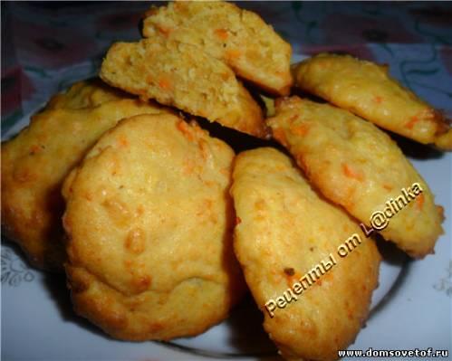 Печенье из творога и моркови