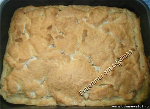 Пирог с грушами и яблоками в карамели. Рецепт