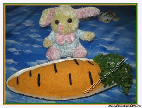 Рецепт Салата из моркови с чесноком