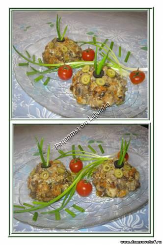 Салат с рыбой Рецепт салата из жареной рыбы