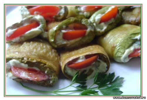 Кулинарные рецепты с фото - Закуска из кабачков - Закуски .