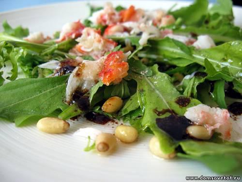 Салат рецепт крабовые палочки и фасолью