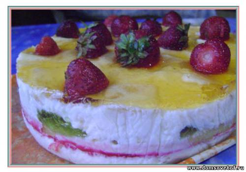 Фото-рецепт торт без выпечки с желе
