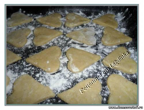 Домашнее печенье с корицей.Рецепт печенья на скорую руку. Рецепт печенья Сердечки