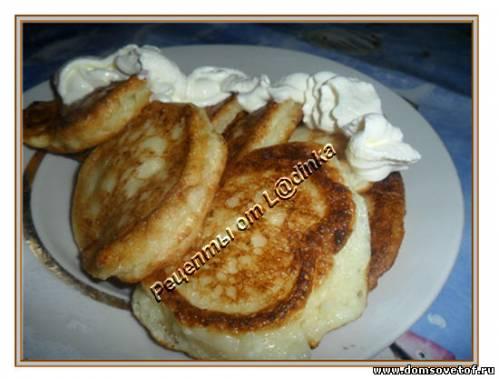 Сырники - Оладьи из творога с манкой. Рецепт
