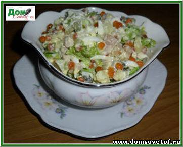 рецепт салата оливье фото