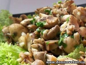 Французский салат с шампиньонами