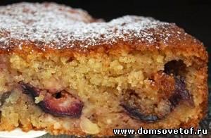 Пирог с инжиром и миндалем
