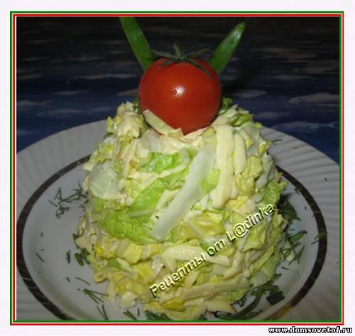 Салат с пекинской капустой и копченым сыром