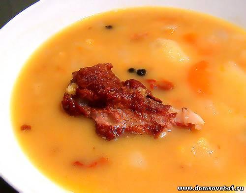 Суп с ребрышками копчеными