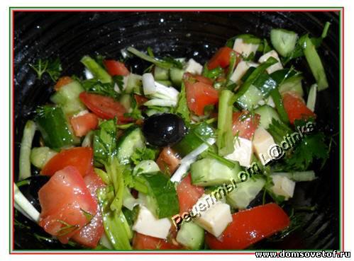 Рецепт салата Греческий