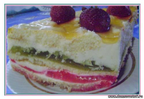 Рецепт торта Битое стекло с фото