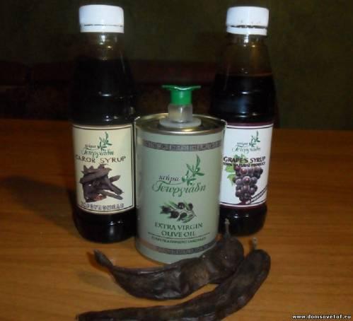 сиропы и оливковое масло