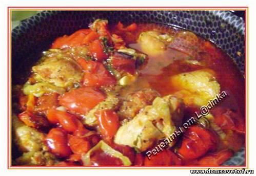 Рецепт приготовления овощного рагу с фаршем
