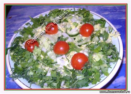 рецепт вкусного недорогого салата с пекинской капустой