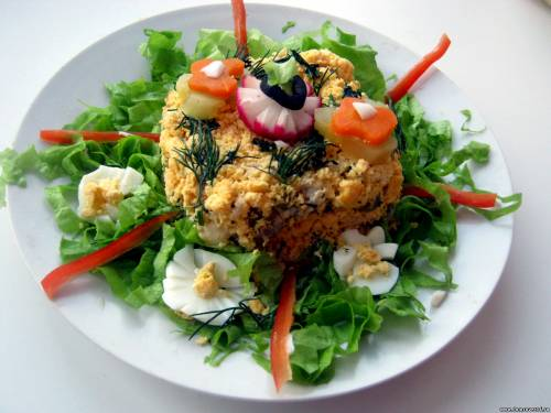 салат из крабовых палочек празднечный рецепт салата