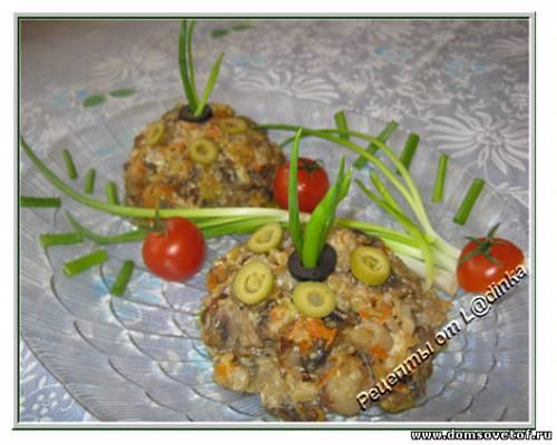 Салат с рыбой. Рецепт салата с рыбой и грибами