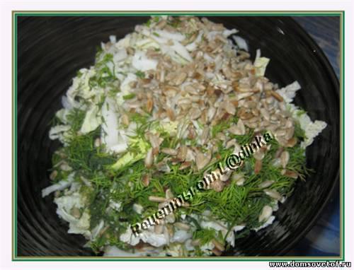Рецепт Салата из капусты с семечками