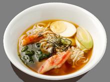 Японский суп с яйцами и крабами