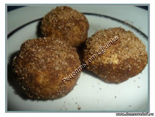 Песочное печенье. Рецепт с фото. Печенье Шоколадные колобки