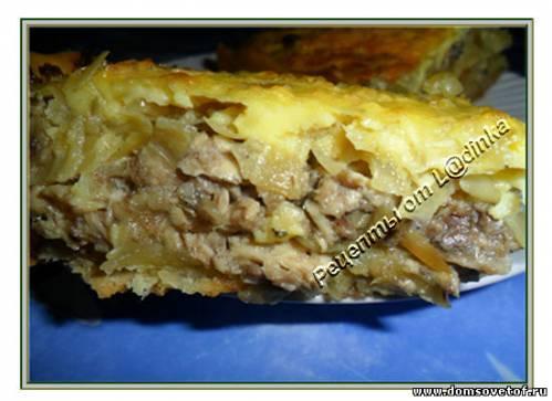 Пирог с рыбными консервами рецепт с фото