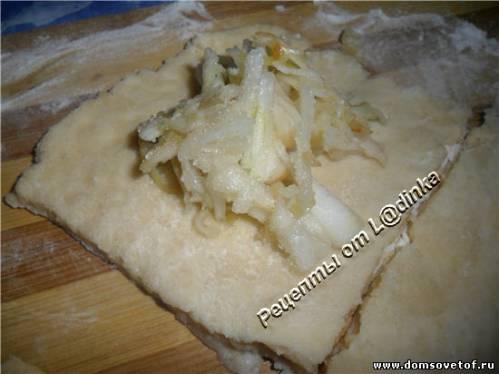Домашнее печенье с начинкой из яблок.Рецепт печенья на скорую руку
