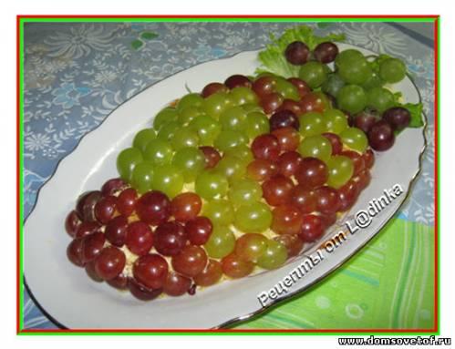 Салат с виноградом и курицей. Рецепт с фото