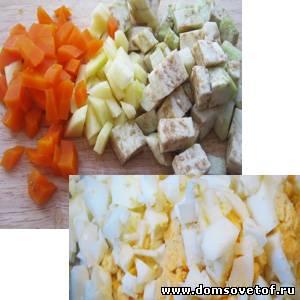 праздничный рецепт салата из курицы с красивым оформлением