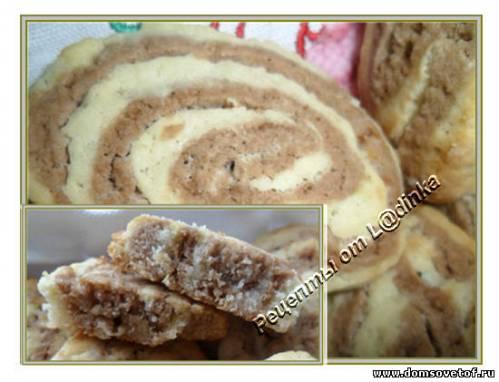 Двухцветное песочное печенье. Рецепт с фото