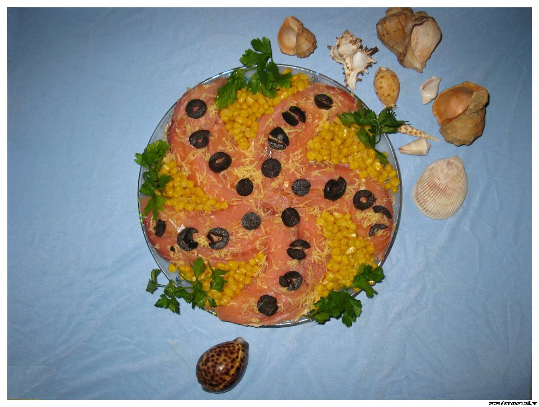 Салат морская звезда с тунцом рецепт с