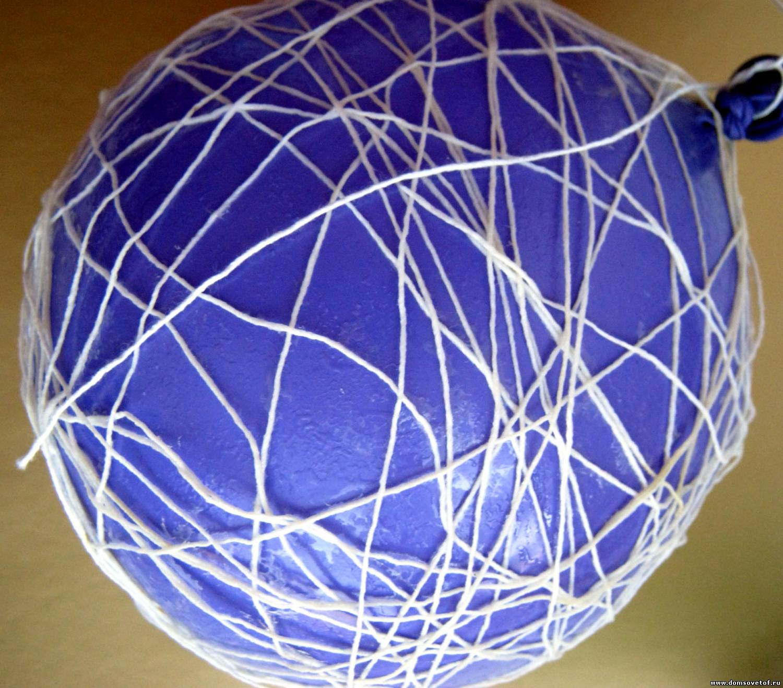 Поделки из воздушных шаров обмотанных нитками6