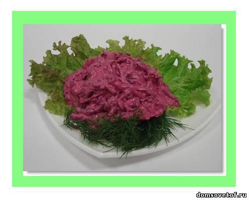 Салат с свеклой для детей