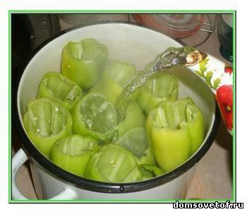 консервация фаршированного перца овощами