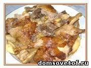 утка с яблоками, рецепт приготовления утки в духовке