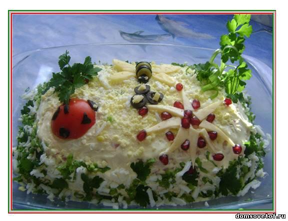 Салаты рецепты с фото на день рождения.
