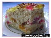 Праздничные рецепты. Торт «Битое стекло» с желе без выпечки. Пошаговый фото-рецепт