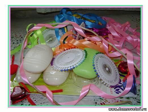 Мастер-класс: Мастер-класс по изготовлению корзиночки из мыла Ленты.
