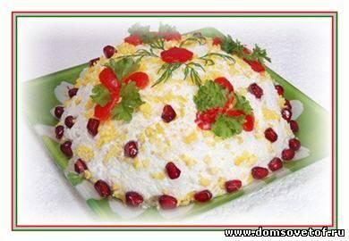 """вкусный салат """"Нежный"""" на день рождения или на праздник"""