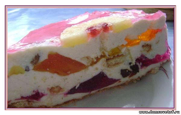 Торт с творогом без сметаны