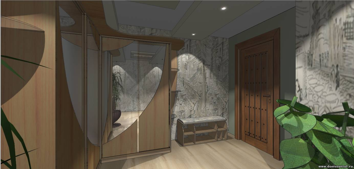дизан прихожей и коридора квартиры