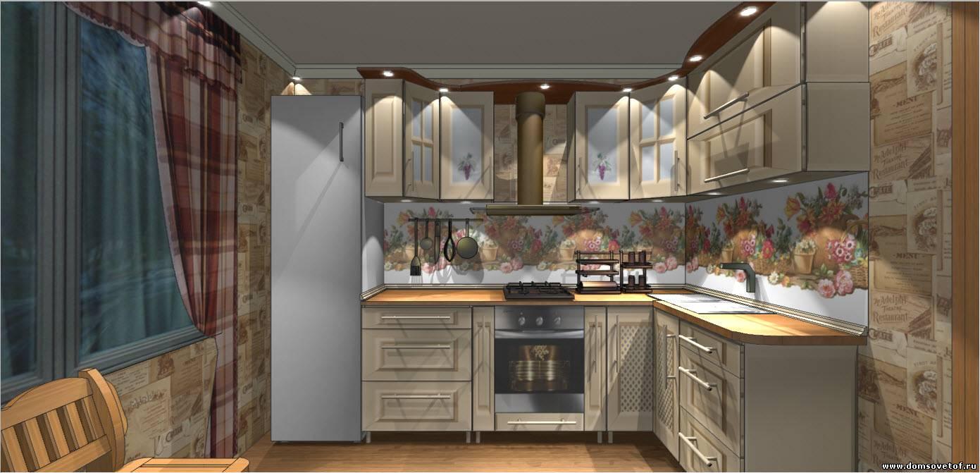 Дизайн проект для кухни 9 квадратных метра
