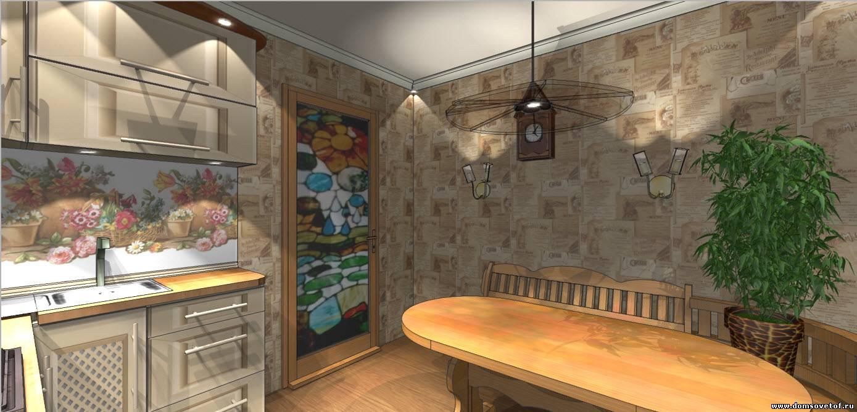 дизайн кухни в 9 кв м , фото интерьера маленькой кухни