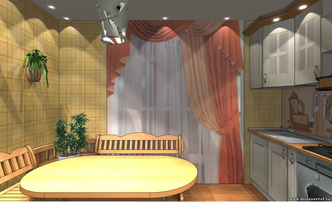 дизайн-проект кухни, площадью 12 кв. м