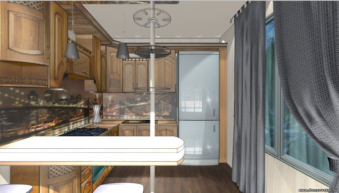 Дизайн кухни на 12 квадратных метров