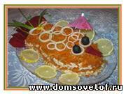 Салат в виде рыбы. Два фото-рецепты рыбных салатов