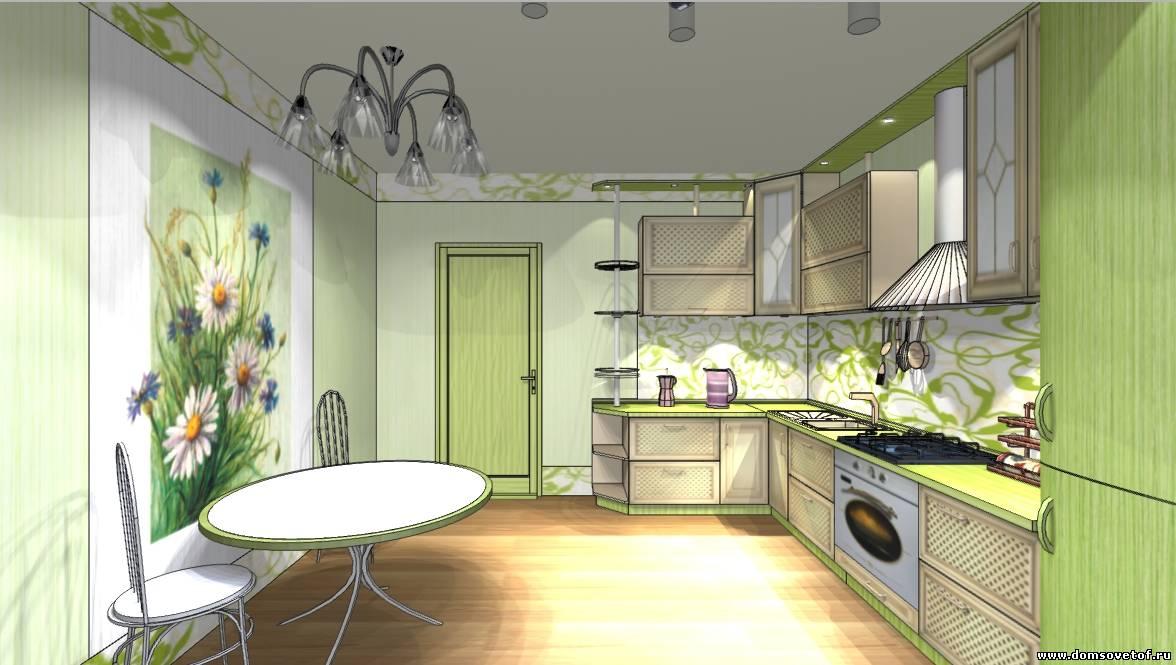 дизайн для кухни с эркером фото